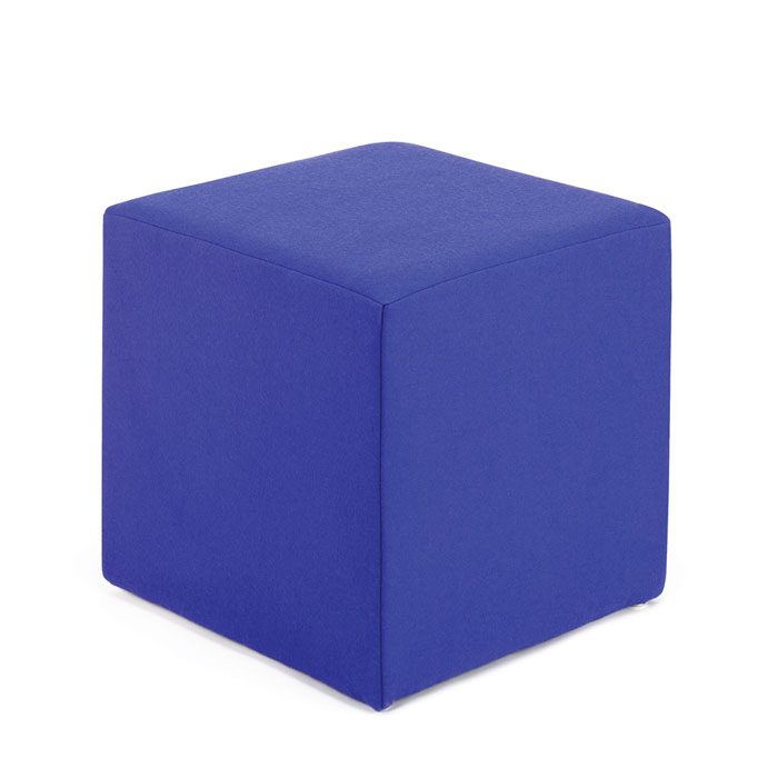 Square Rectangular Reception Seating Cube Stool