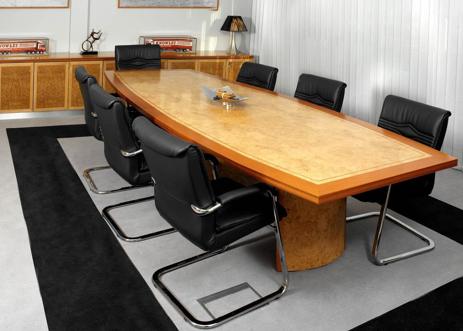 Boardroom Table in Veneer with Border | long meeting table ...