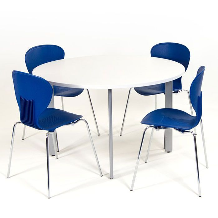 Circular Meeting Table On Four Legs Round Table Small