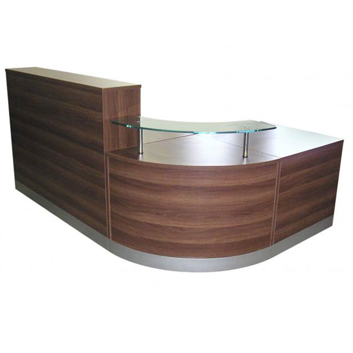 Curved Modular Reception Desk In A Choice Of Finish