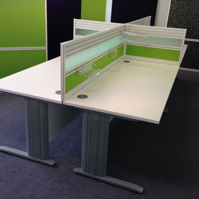 Desk Mounted Screen with Tool Rail (+ various other ...