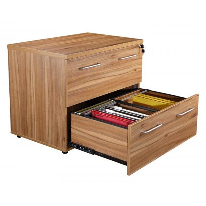 Executive Two Drawer Side Filer Wide Drawer Storage
