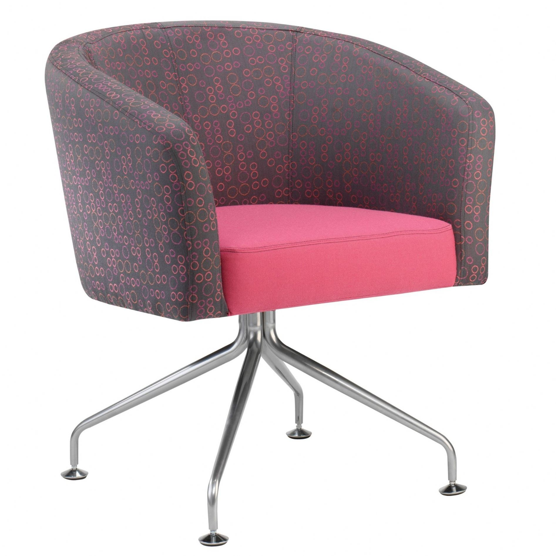 Funky Reception Seating Chair On Chrome Base Reception