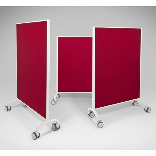 Mobile Fabric Screen System On Castors Office Dividers