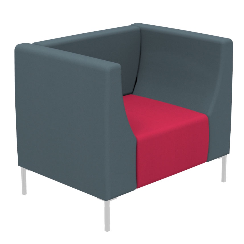 Modern Reception Chairs Office Tub Chair Square Office