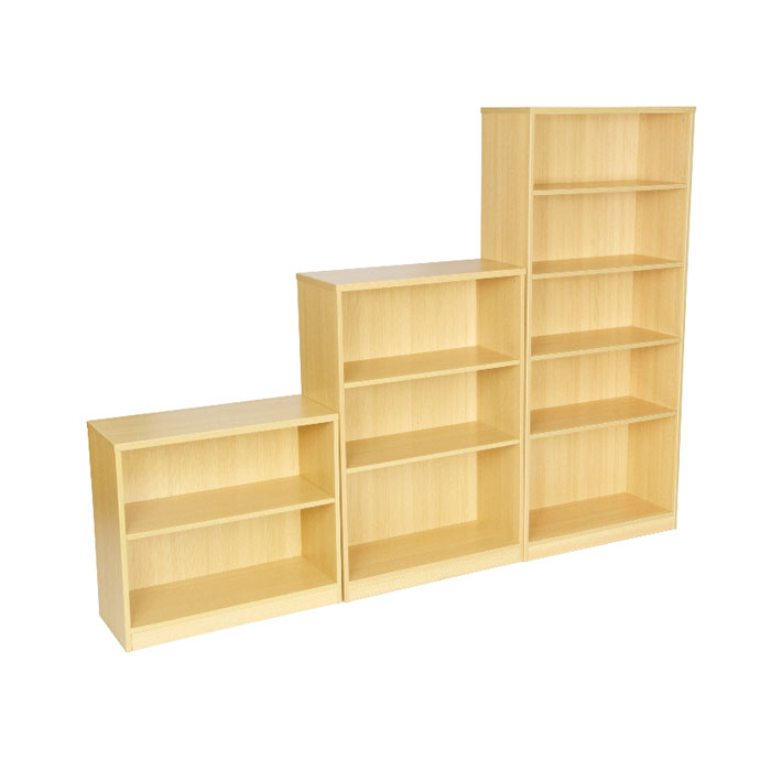 Open Bookcase Available In Beech Or Light Oak Wooden
