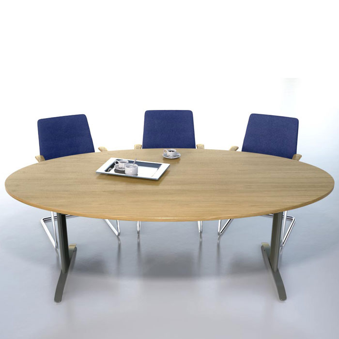 Oval Meeting Table Available In Veneer Of Mfc Oval
