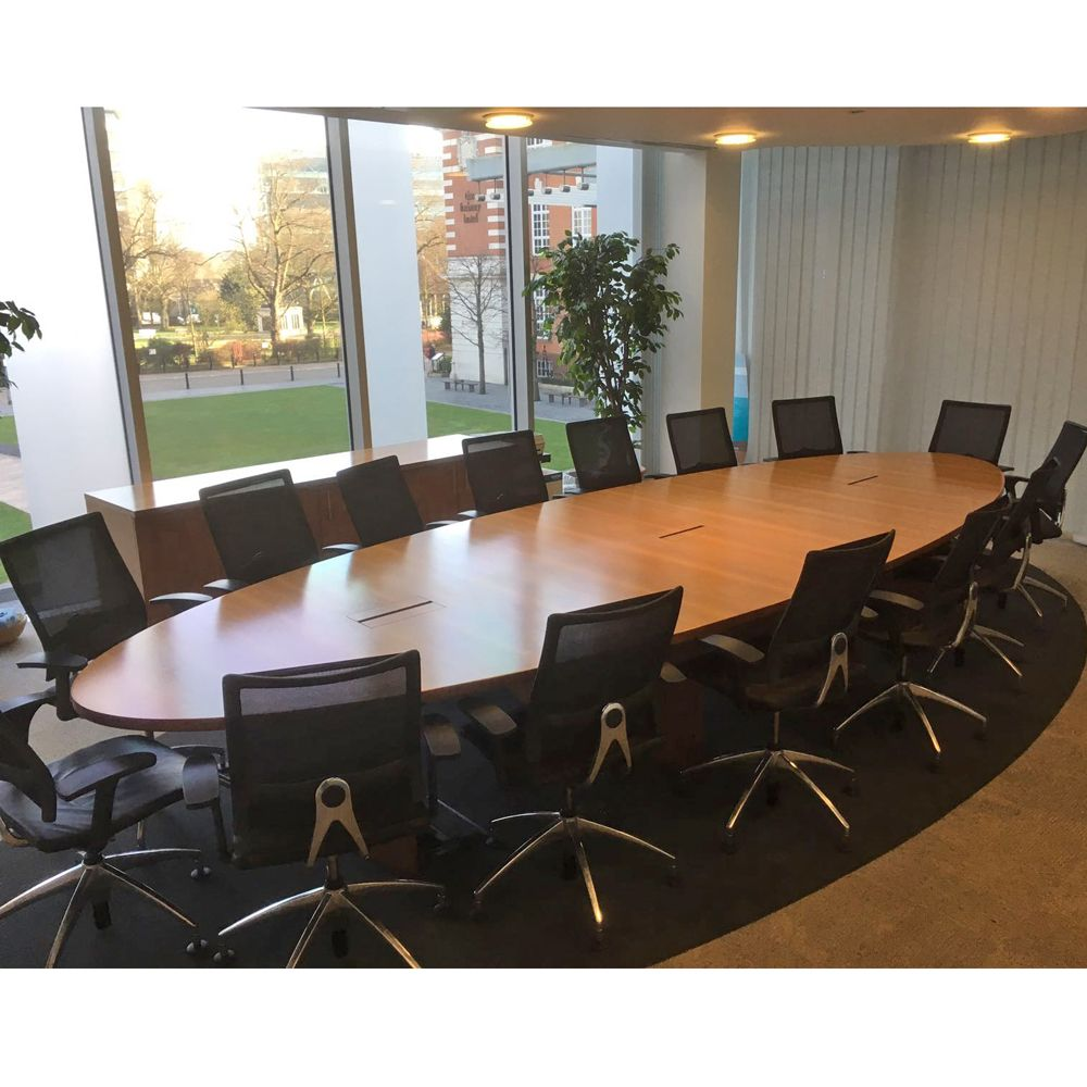 Oval Walnut Veneer Boardroom Table Oval Conference Table