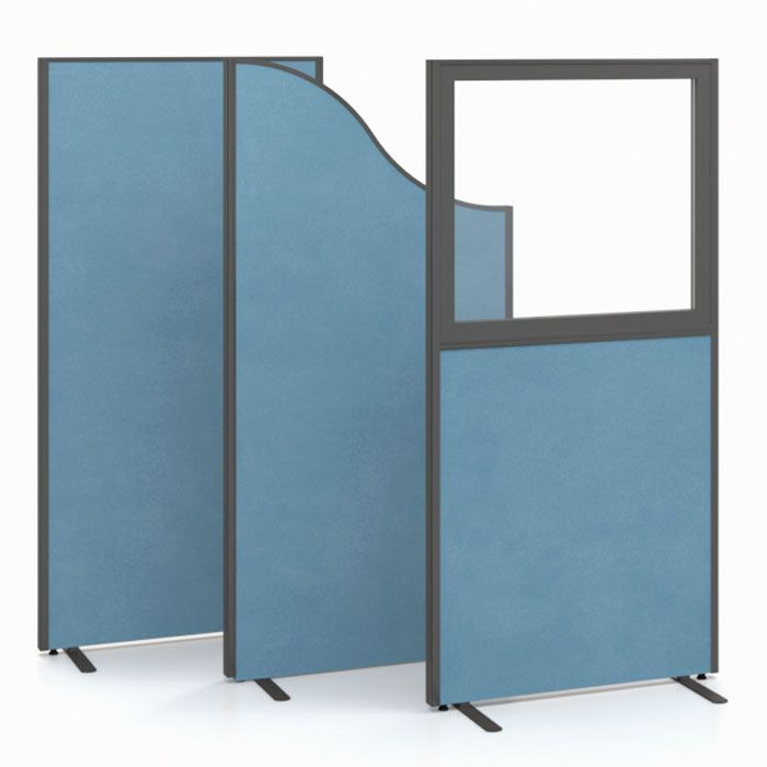 Part glazed free standing screens office dividers for Free standing screen