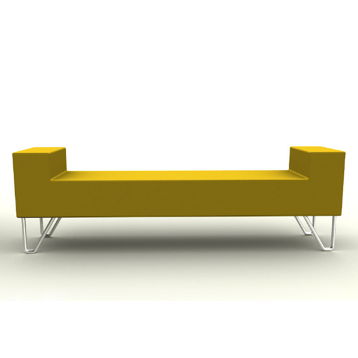 Reception Bench Seating Long Office Bench Fabric Bench
