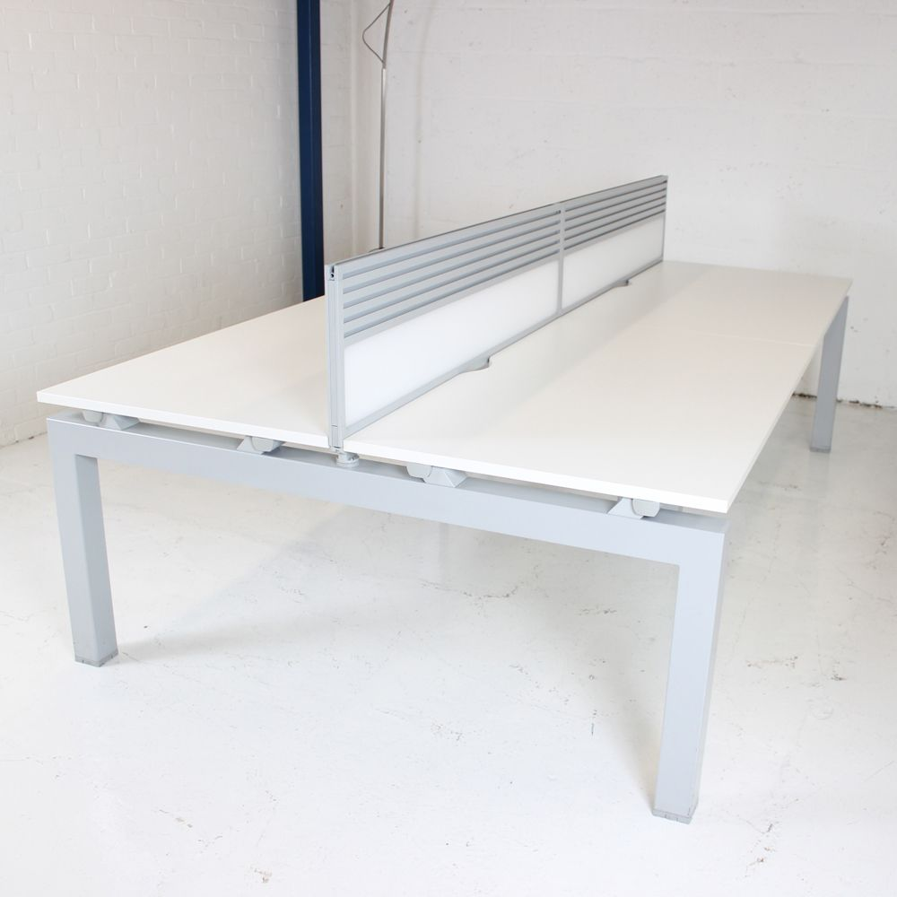 Senator Crossover Bench With Screen Included White Desk