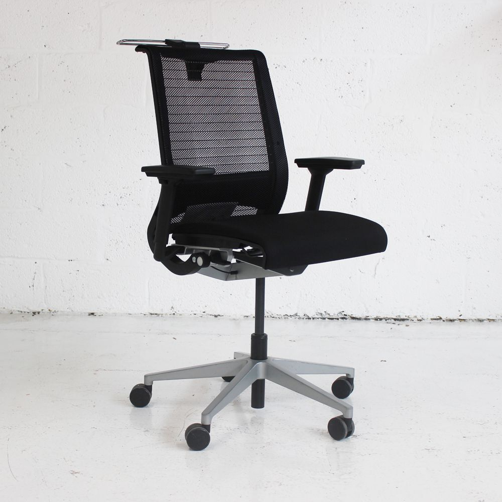steelcase think office chair. Steelcase Think Operator Chair With Coat Hanger | Mesh Back Office Black Computer