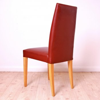 Used High Back Leather Meeting Chair Brown Leather Chair Leather