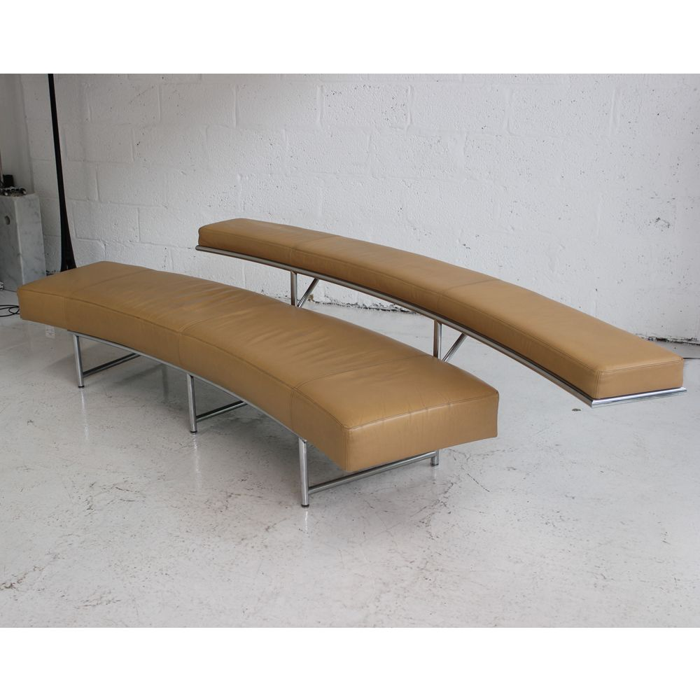 ClassiCon – Monte Carlo | brown leather bench | two tier bench