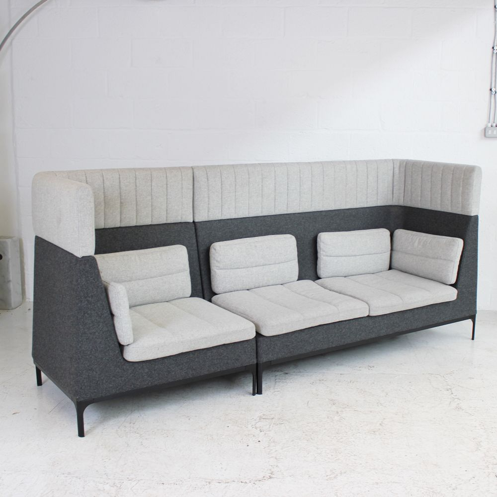 Allermuir Haven Sofa With Headrest Two Tone Grey High