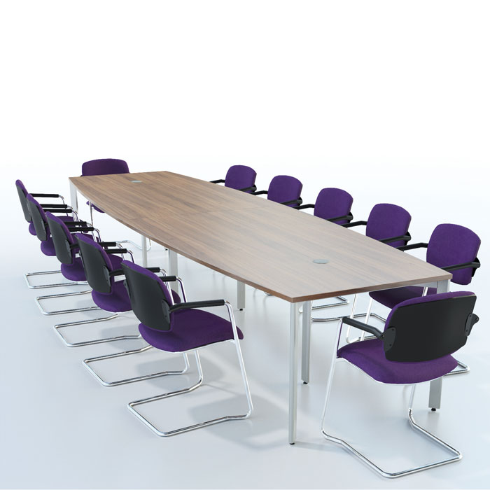 Barrel Shape Or Bow End Boardroom Table Meeting Table On