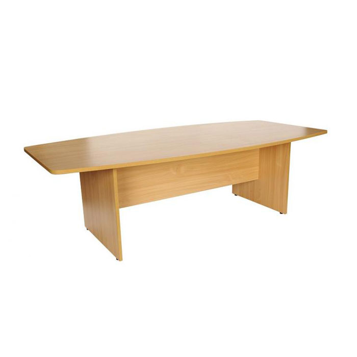 Barrel Shaped Boardroom Table Wooden Meeting Table