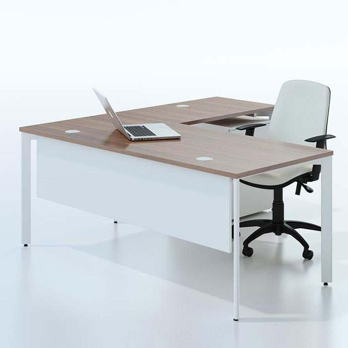 Super Bench Desk Radial With Modesty Panel Cjindustries Chair Design For Home Cjindustriesco