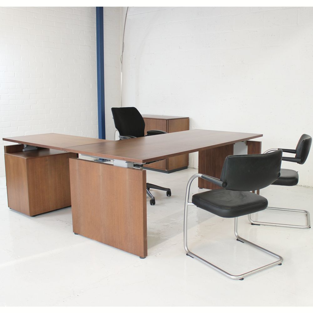 High End Office Furniture >> Bene P2 Managers Suite High End Office Set Veneer Office Desk