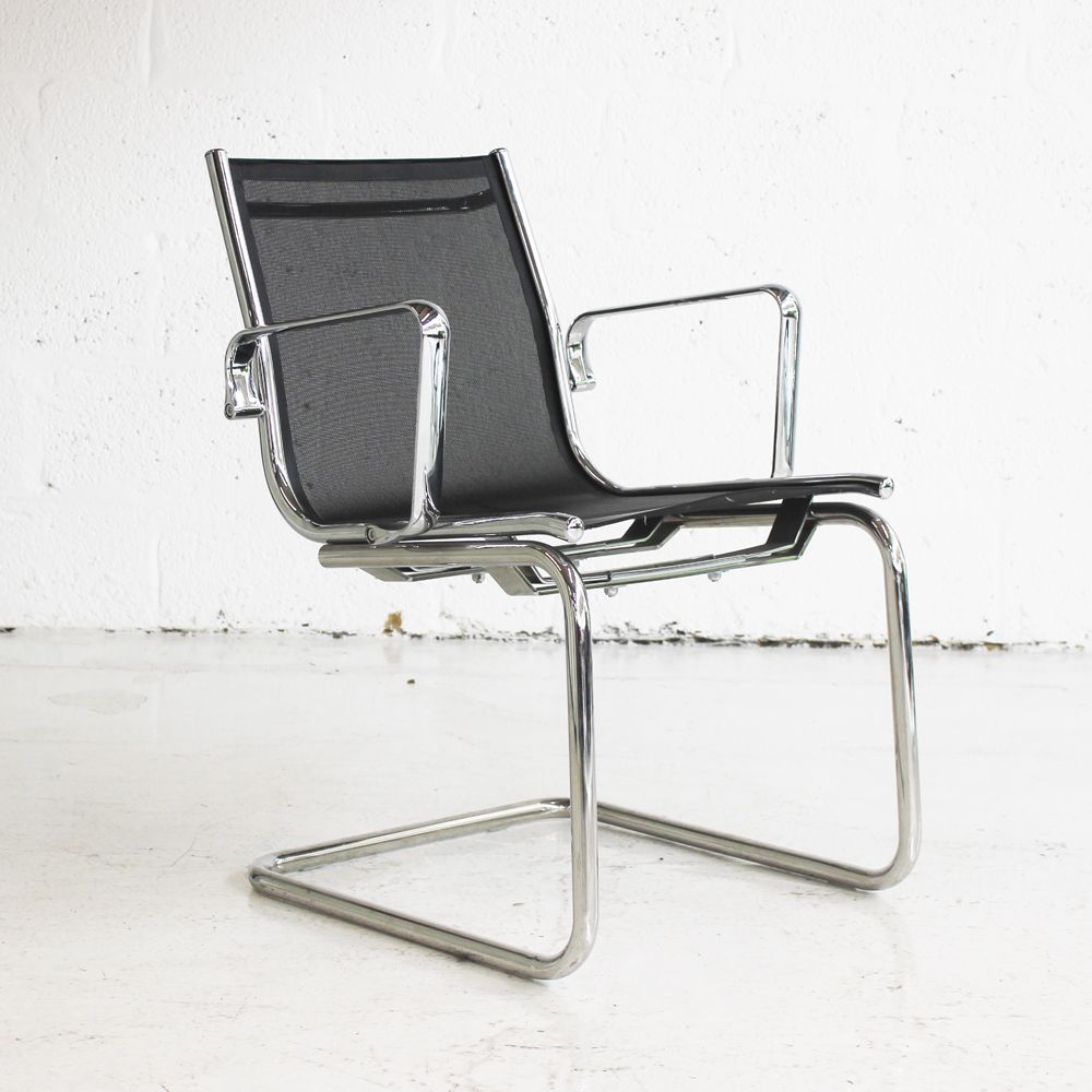 Black Mesh Meeting Chair With Chrome Frame Conference