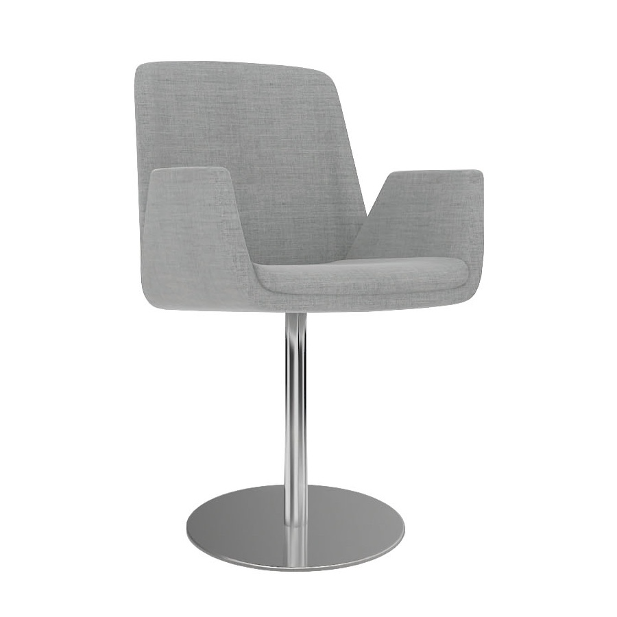Casual Reception Chairs | Chair On Single Pole Base | Stylish Office Seating