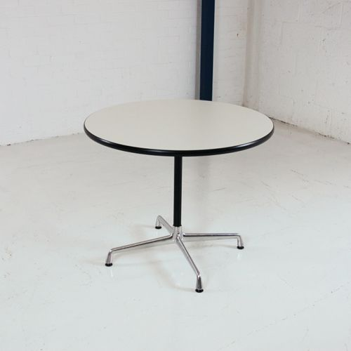 Charles Eames Meeting Table By Vitra 900mm Diameter | Round White Table |  Circular Table