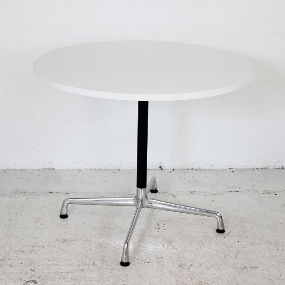 Circular Table with 4 Star base | Round meeting Table | Round white table