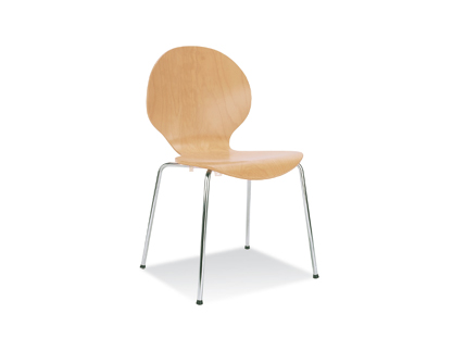 Curved Canteen Chair