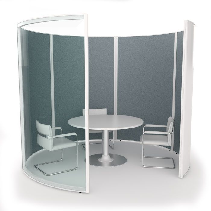 Curved Free Standing Meeting Area Round Meeting Pod