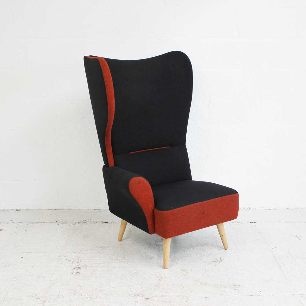 Davison Highley Christiana - Burnt Orange - Right Wing | wing back chair | classic armchair