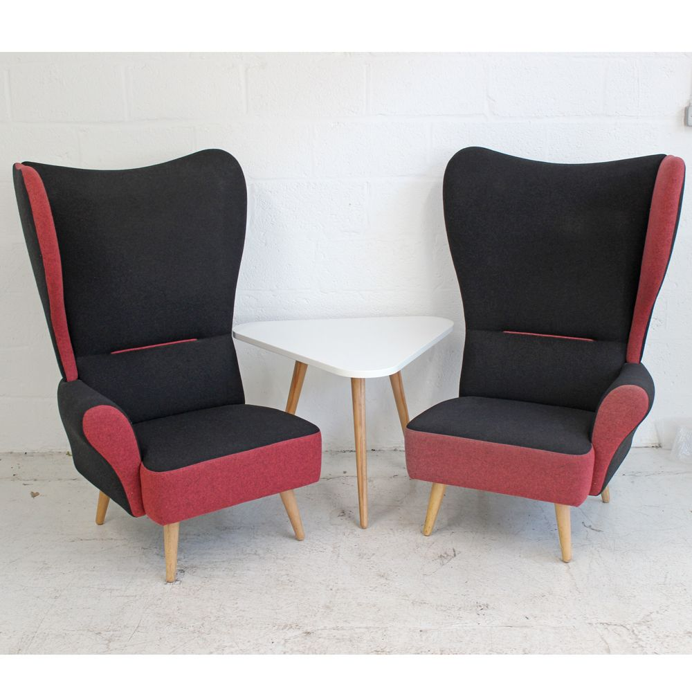 Davison Highley Christiana - Dark Pink - Right Wing | Wingback Chair | Classic Armchair