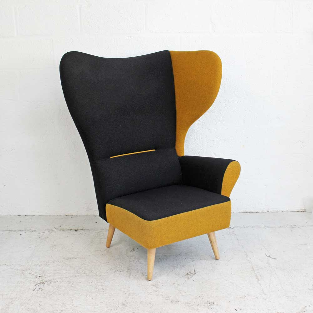 Davison Highley Christiana - Mustard - Left  Wing | Wingback Chair | Classic Armchair