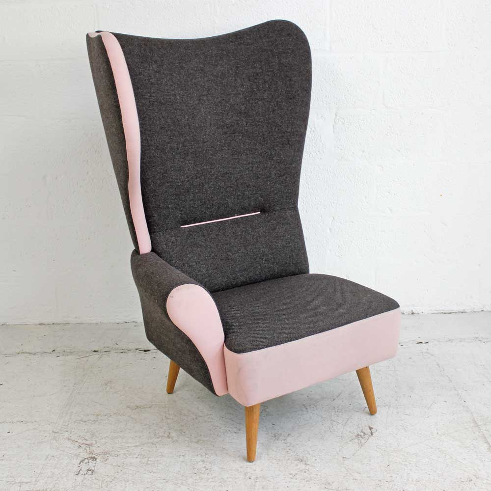 Davison Highly Christiana - Light Pink - Right Wing | Wing Back Chair | Classic Armchair