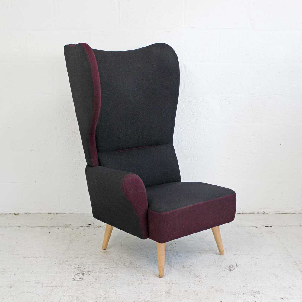 Davison Highly Christiana - Purple - Right Wing | Wing Back Chair | Classic Armchair