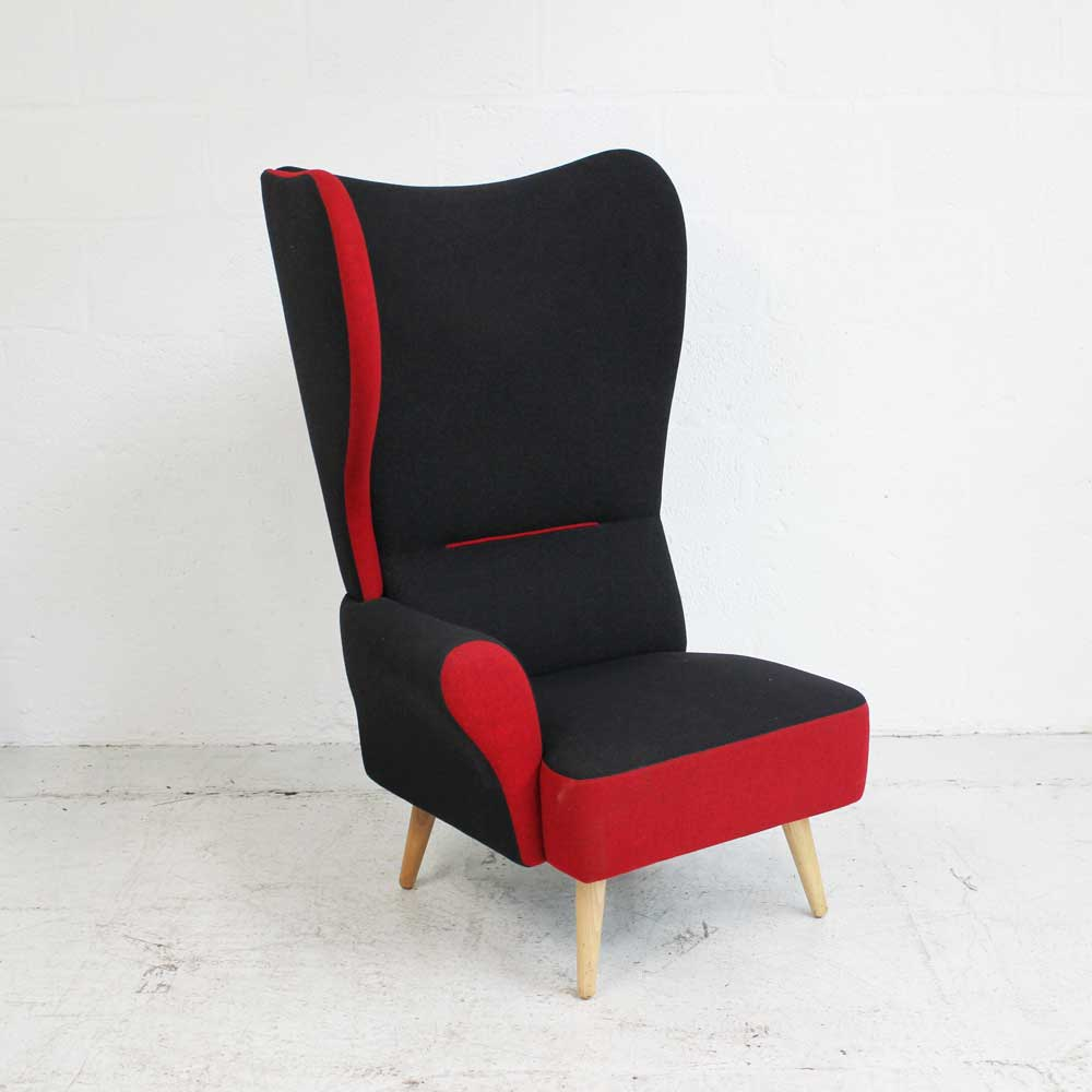 Davison Highly Christiana - Red - Right Wing | Wing Back Chair | Classic Armchair