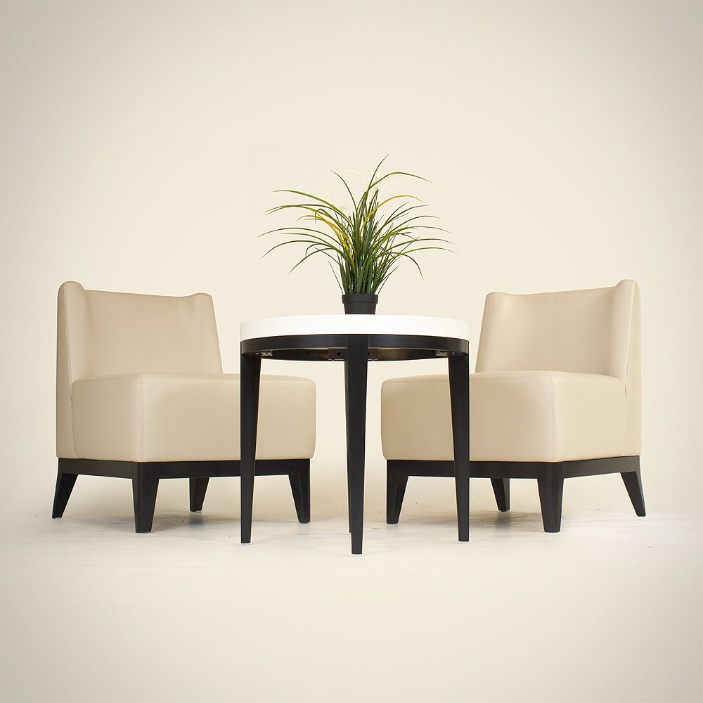 Davison Highely Lounge Chair Set | Ivory Leather Lounge Chair Set | Davison Highely Cream Chair Set