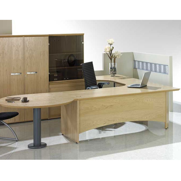 Executive Meeting End Desk Desk With Table Attached Consultant Desk - Desk with meeting table