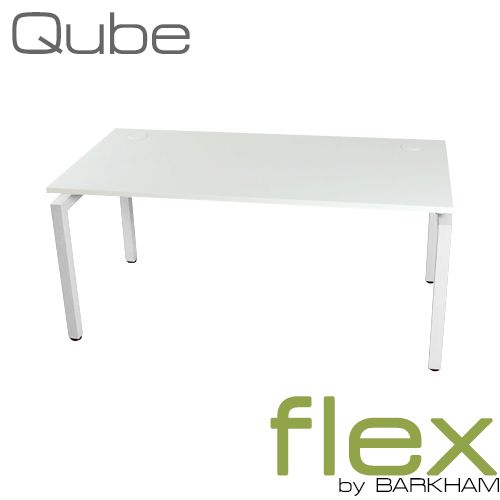 Flex Qube | New White Free Standing Desk