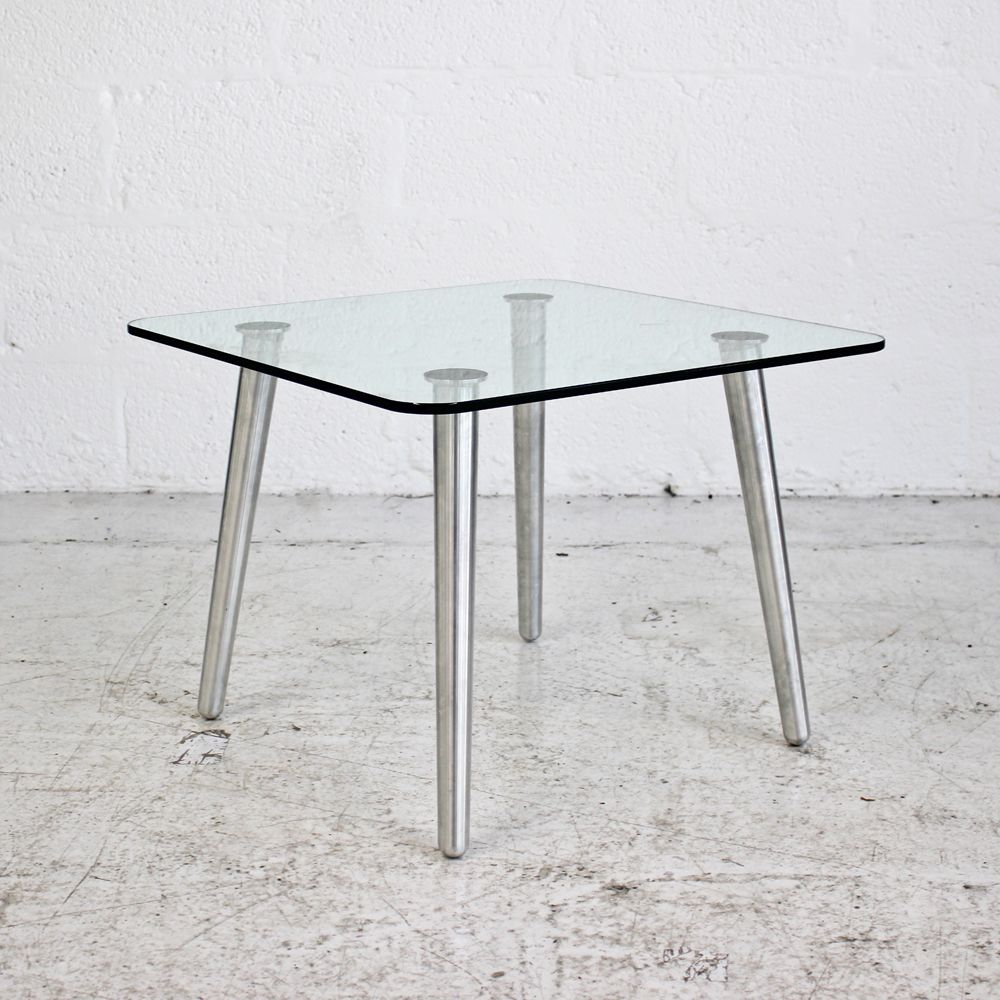 Four Legged Glass Coffee Table | Small Glass Table | Glass Side Table