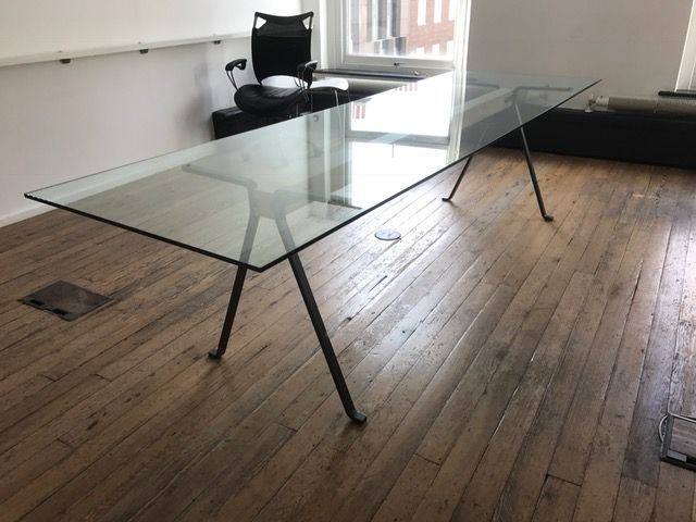 Glass Boardroom Table Mm X Mm Modern Meeting Table Large - Glass boardroom table