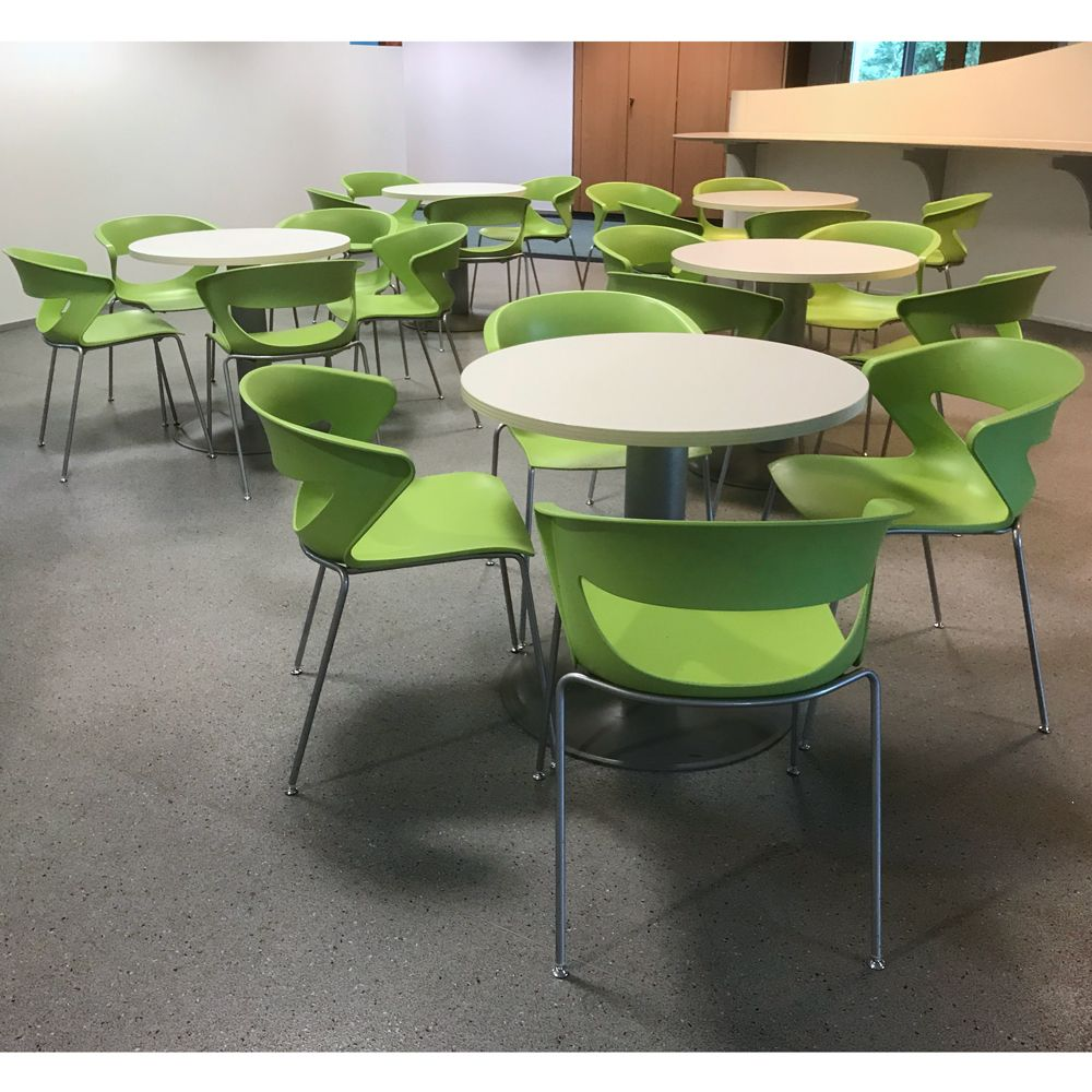 Green Bistro Chairs | Plastic Cafe Chairs | Green Restaurant Chair