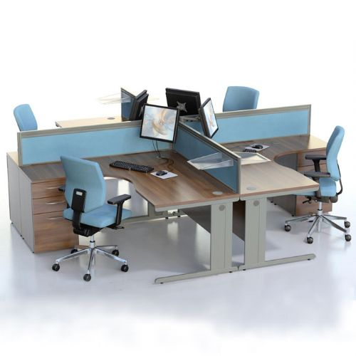 Radial Desk in wood finish of your choice | corner desk | curved office desk