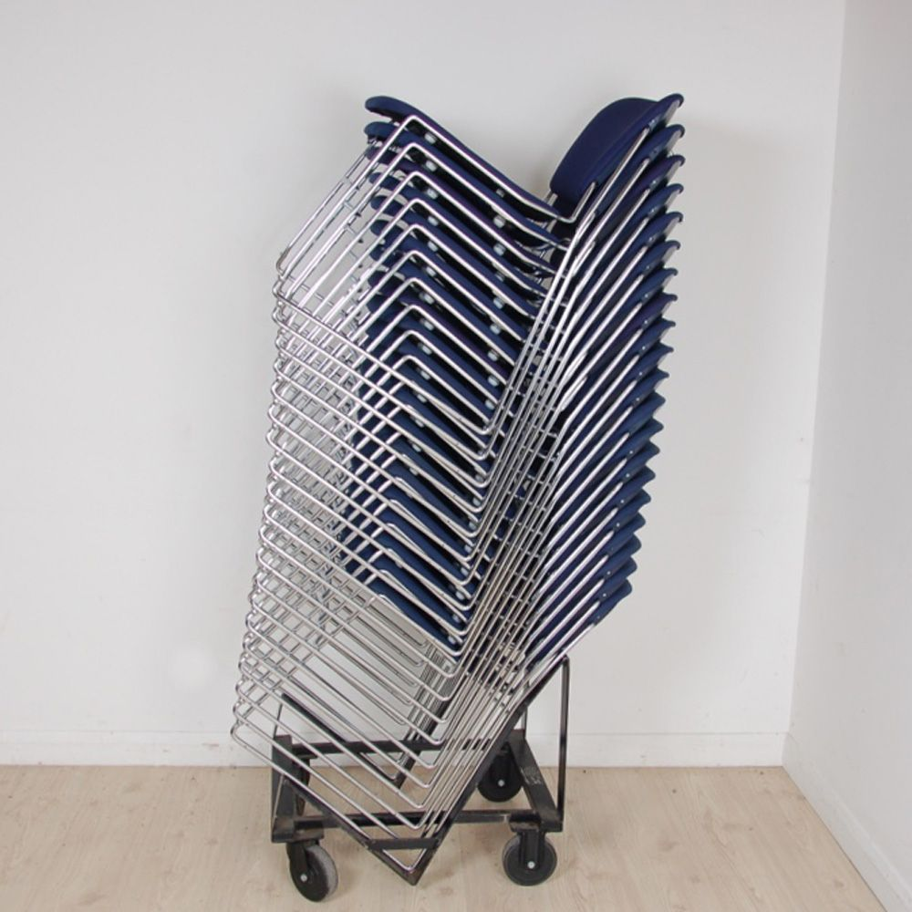 KI Perry Stacking Meeting Chair | Stacking meeting chair | chrome frame chair : chair stacking trolley - Cheerinfomania.Com