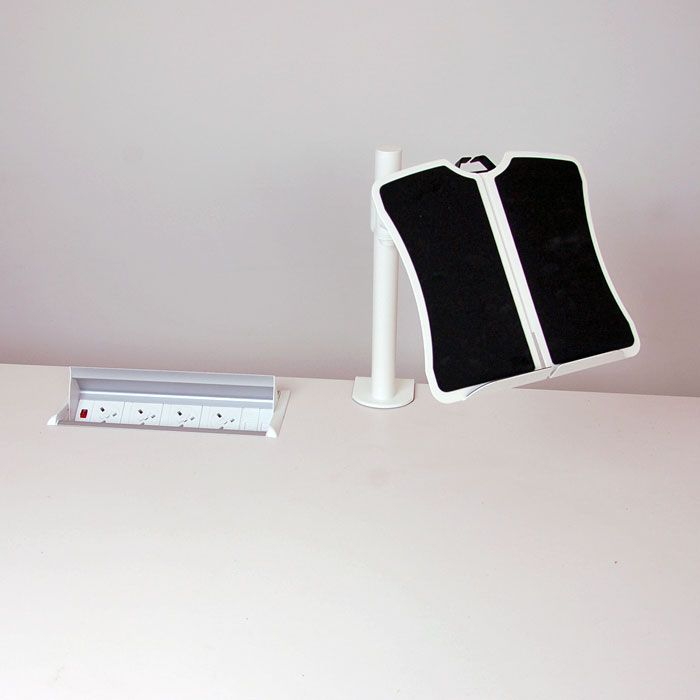 Lap Top Stand in White, Black or Silver | desk laptop tray | laptop stand for desk