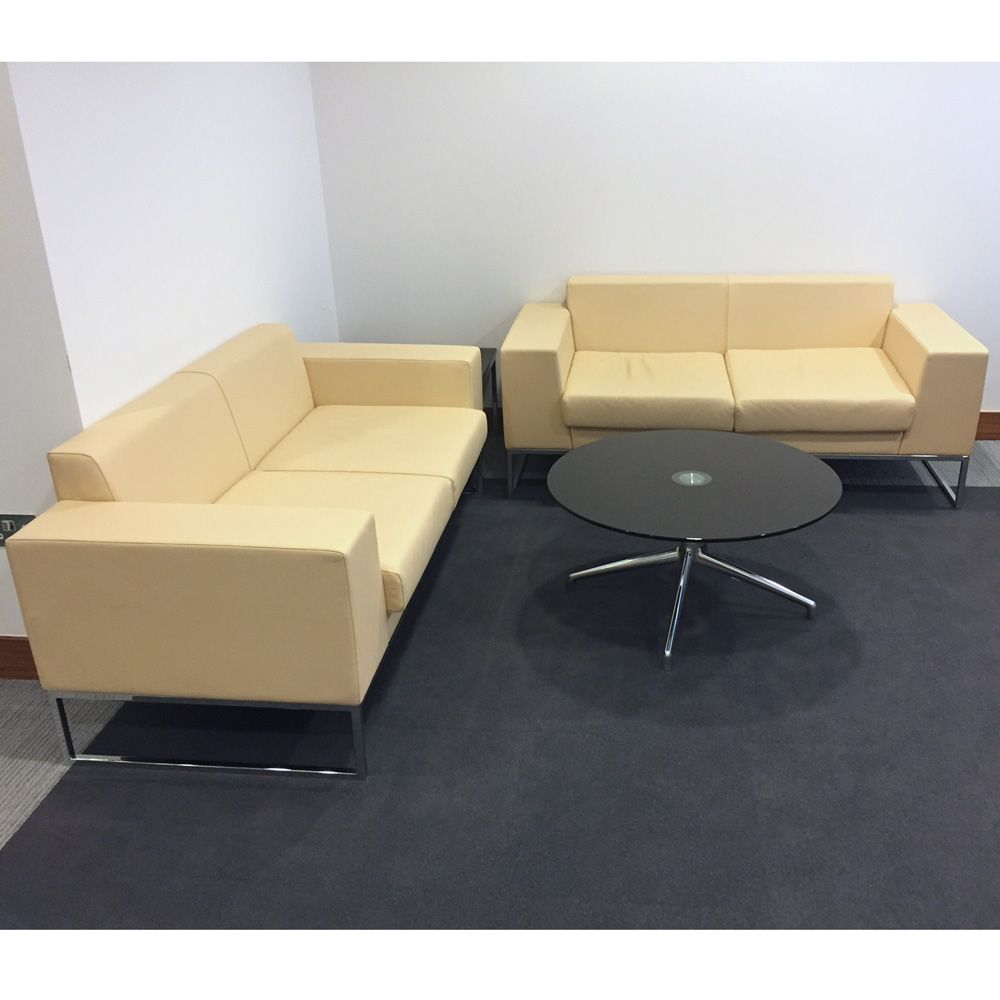 Layla designed by boss design leather sofa matching for Office sofa design