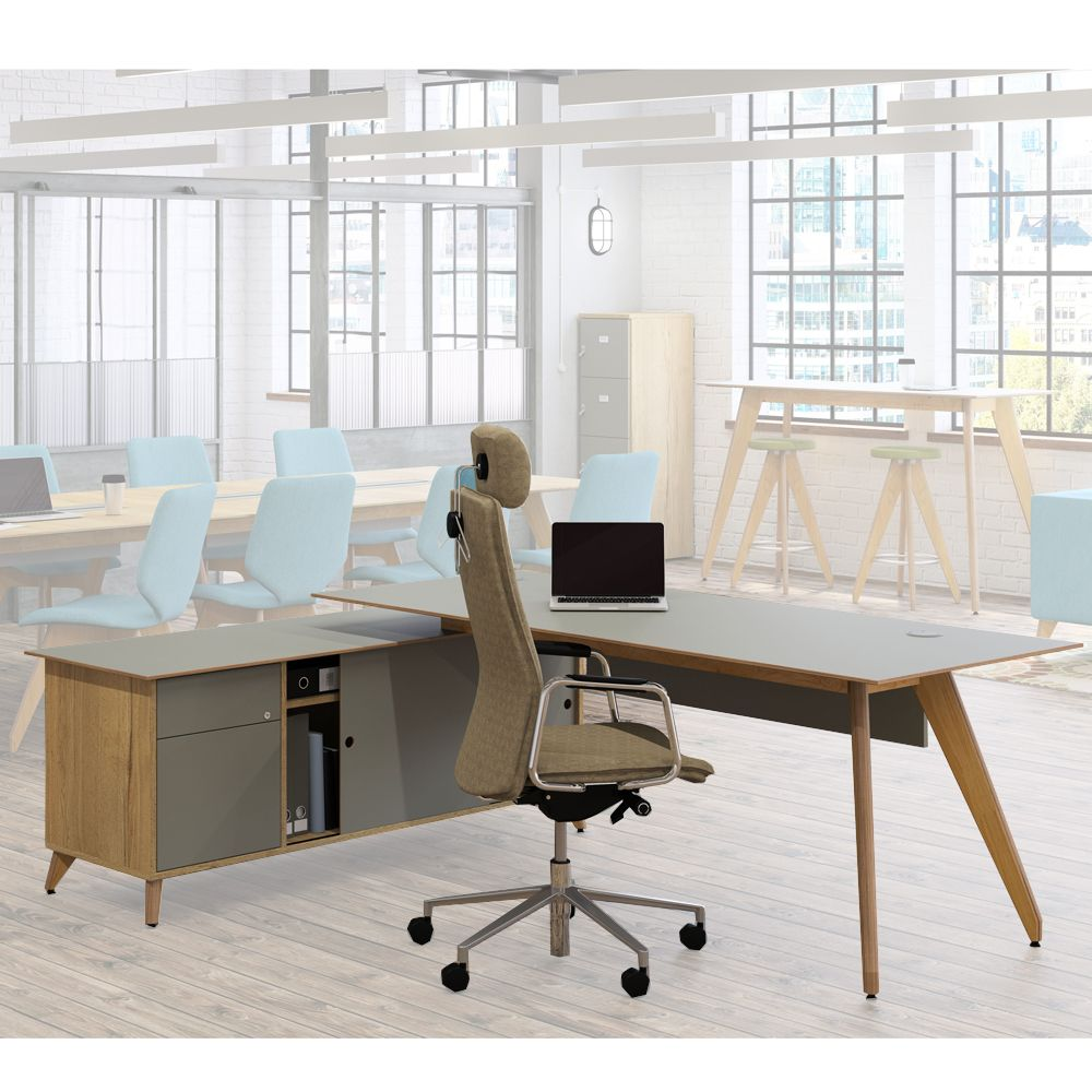 Ligni Executive Workstations | Wooden Desk | Modern Desk