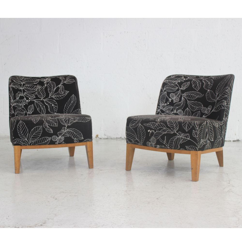 sc 1 st  Barkham Office Furniture & Low Black Chair with Pattern | reception chair | low upholstered chair