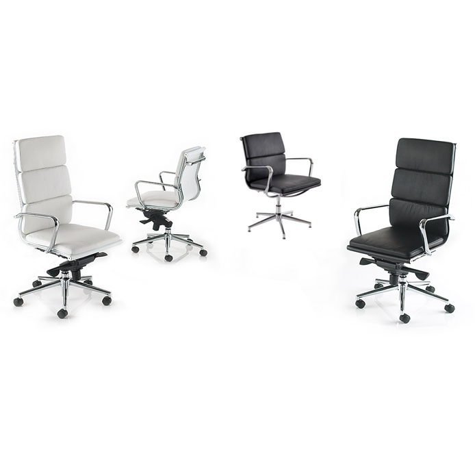 meeting chair on glides or castors executive chair leather chair