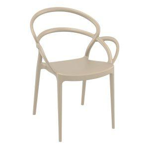 Mila Arm Chair - Taupe