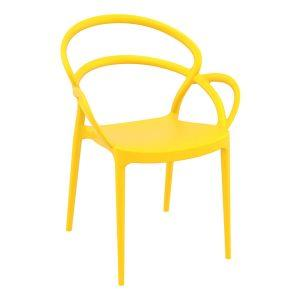 Mila Arm Chair - Yellow